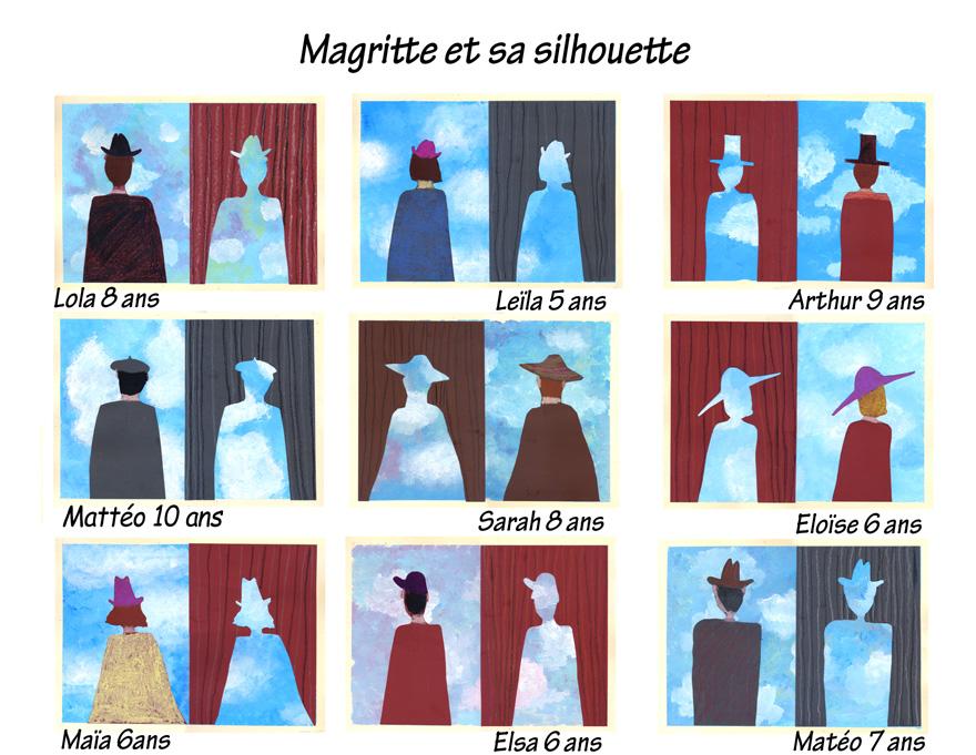 La silhouette avec René Magritte